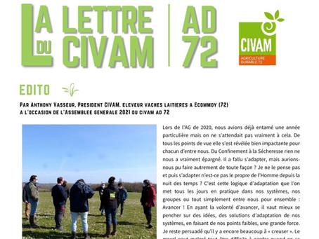 La lettre du CIVAM AD 72 - Avril 2021