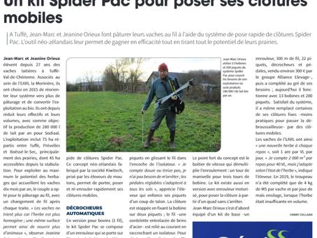 Un kit Spider Pac pour poser ses clôtures mobiles
