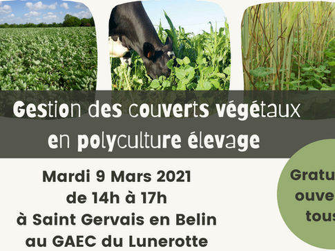 Demie journée technique : Gestion des couverts végétaux en polyculture élevage