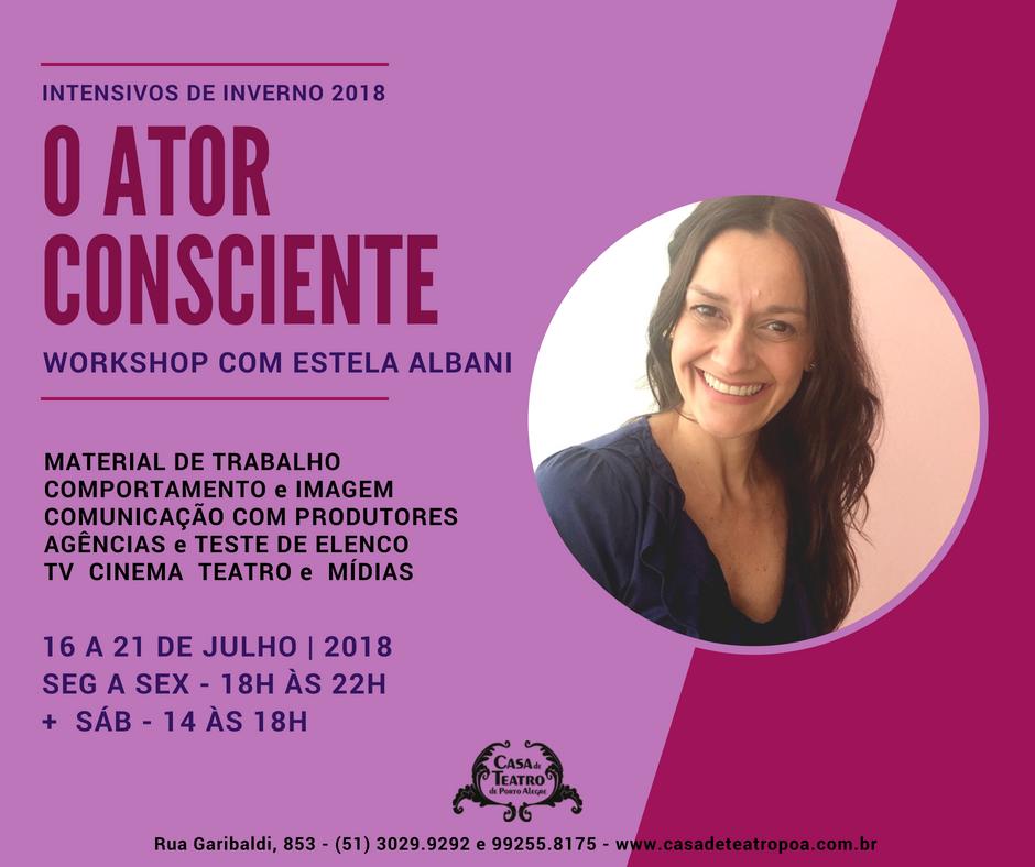 Coaching para Atores com Estela Albani na Casa de Teatro de Porto Alegre