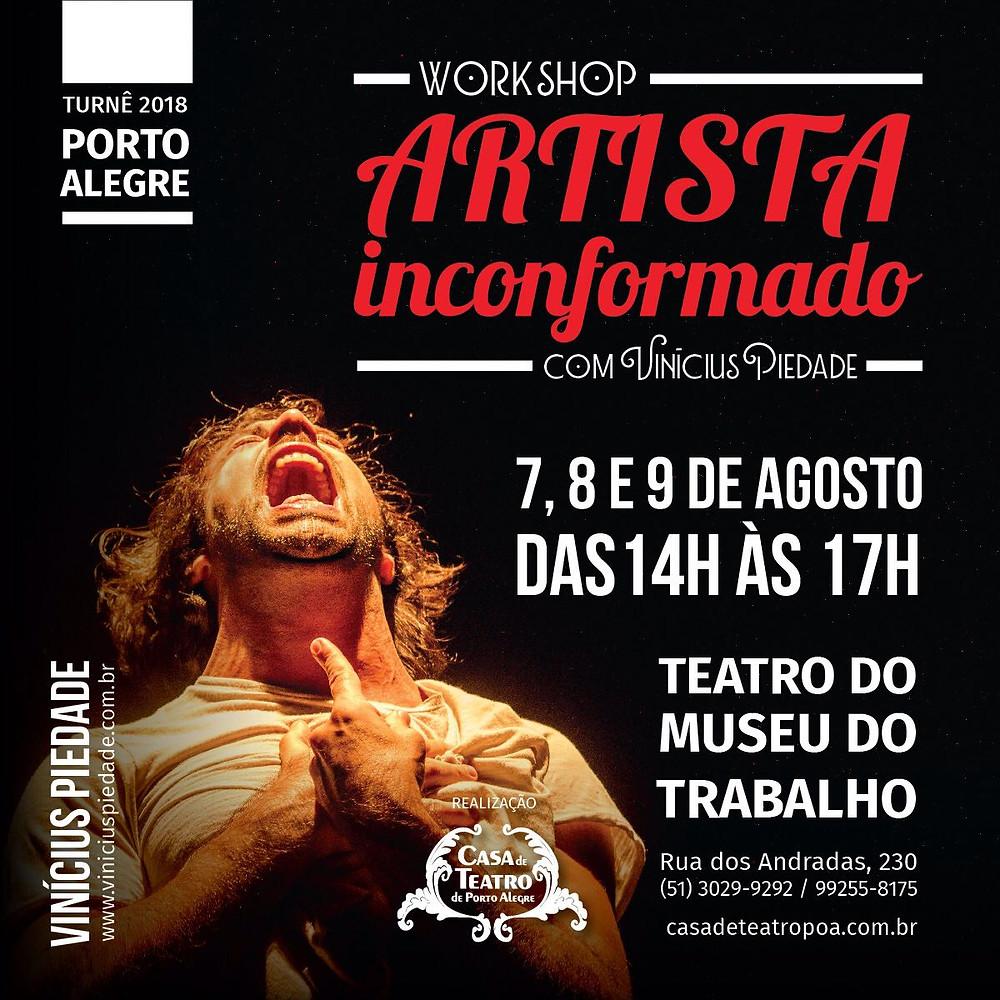 Workshop com Vinicius Piedade na Casa de Teatro de Porto Alegre