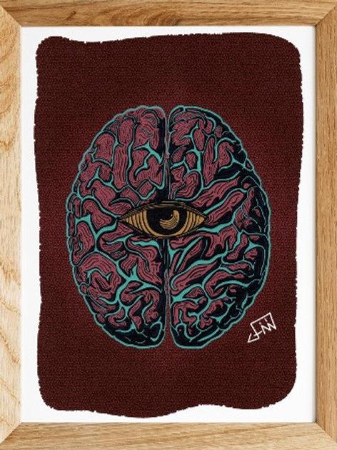 Consciência | Impressão digital A4 - Jimi Melo