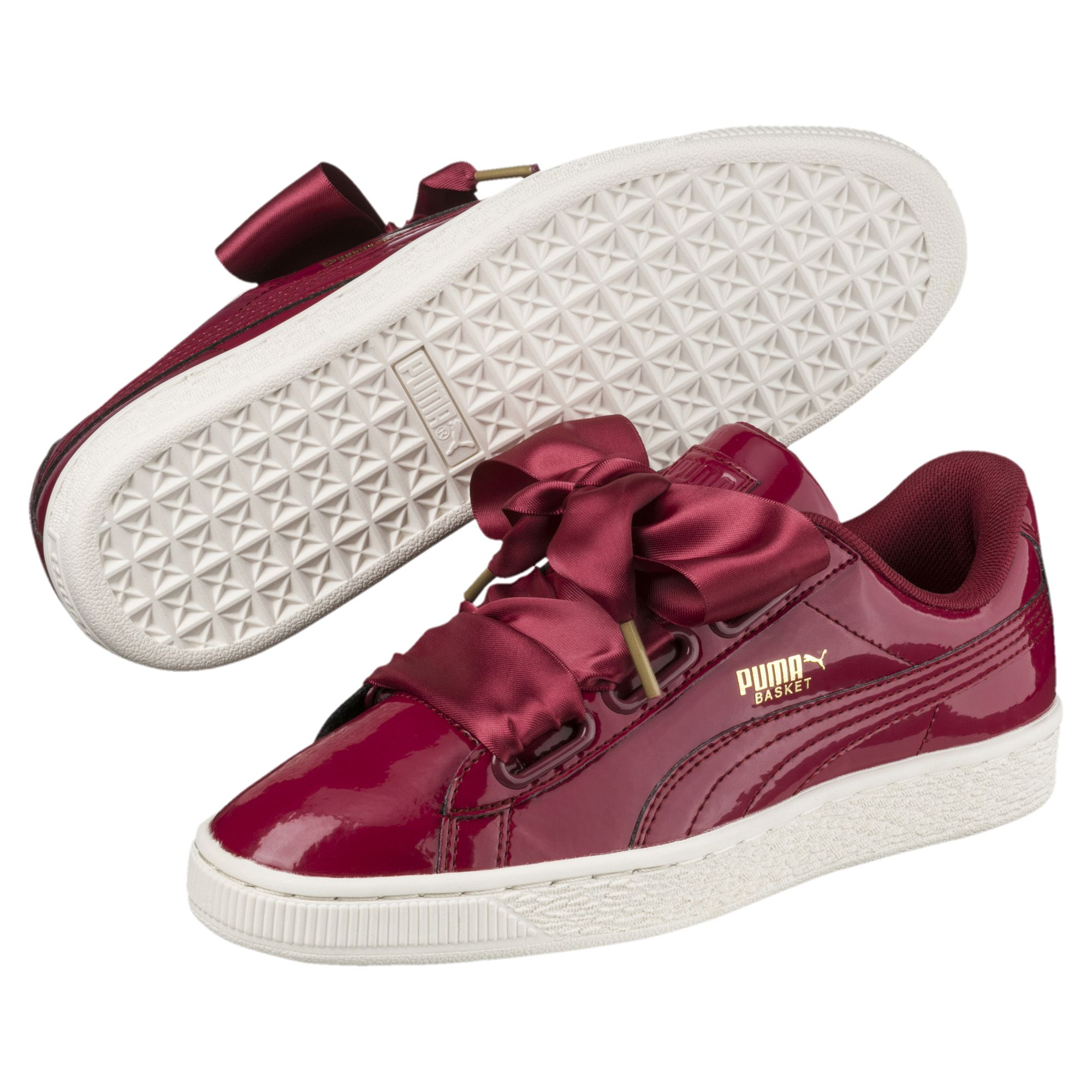 Basket Heart Patent Women's Sneakers red