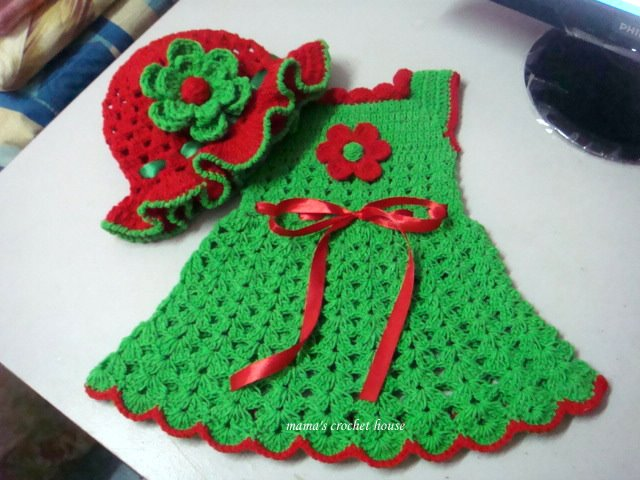 Mama C Green Dress RedGreen Line ChristmasSeason Style