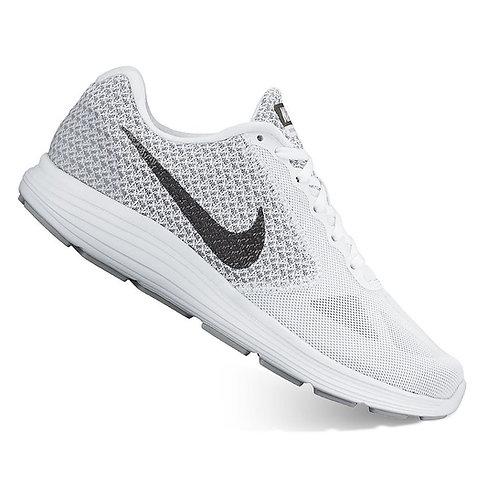Women's Nike Revolution 3 White Running Shoes*BN*