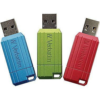 3 Verbatim 8GB PinStripe  USB Flash Drive *BN*