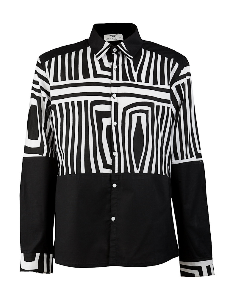 Man Black and White Long Sleeve