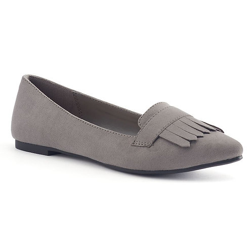 LC Lauren Conrad Women's Pointed Toe Grey Loafers *BN*