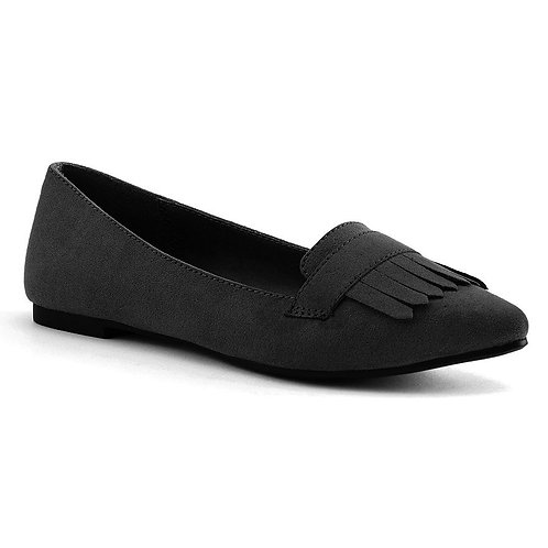 LC Lauren Conrad Women's Pointed Toe Black Loafers *BN*