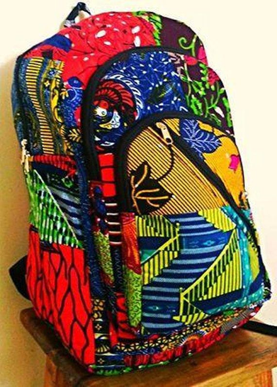 African Print BackPack1