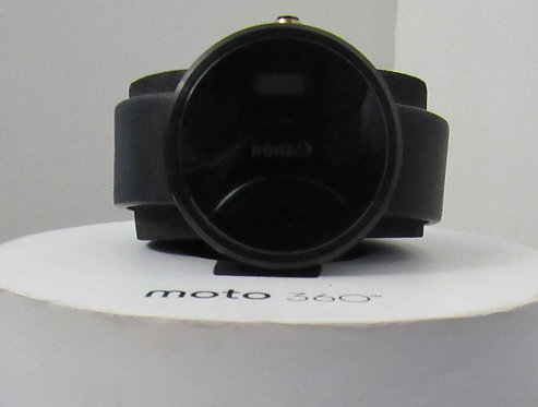 Black Motorola Moto 360 - Leather Smart Watch *OB*