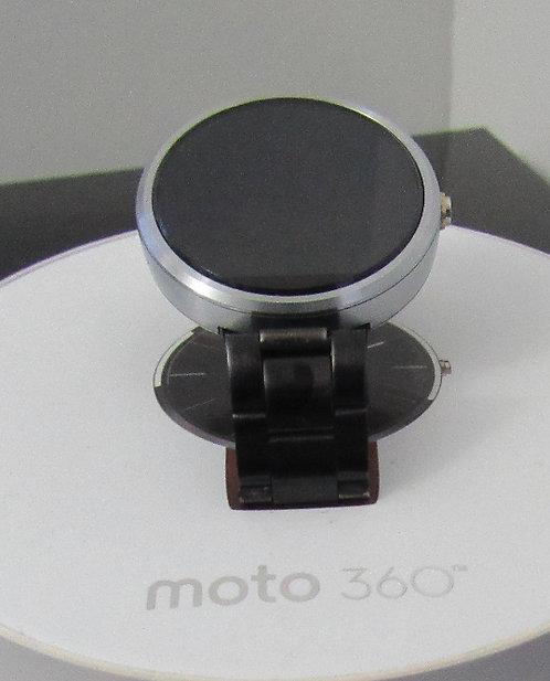 Dark Metal Motorola 360 Leather - Smart Watch *OB*
