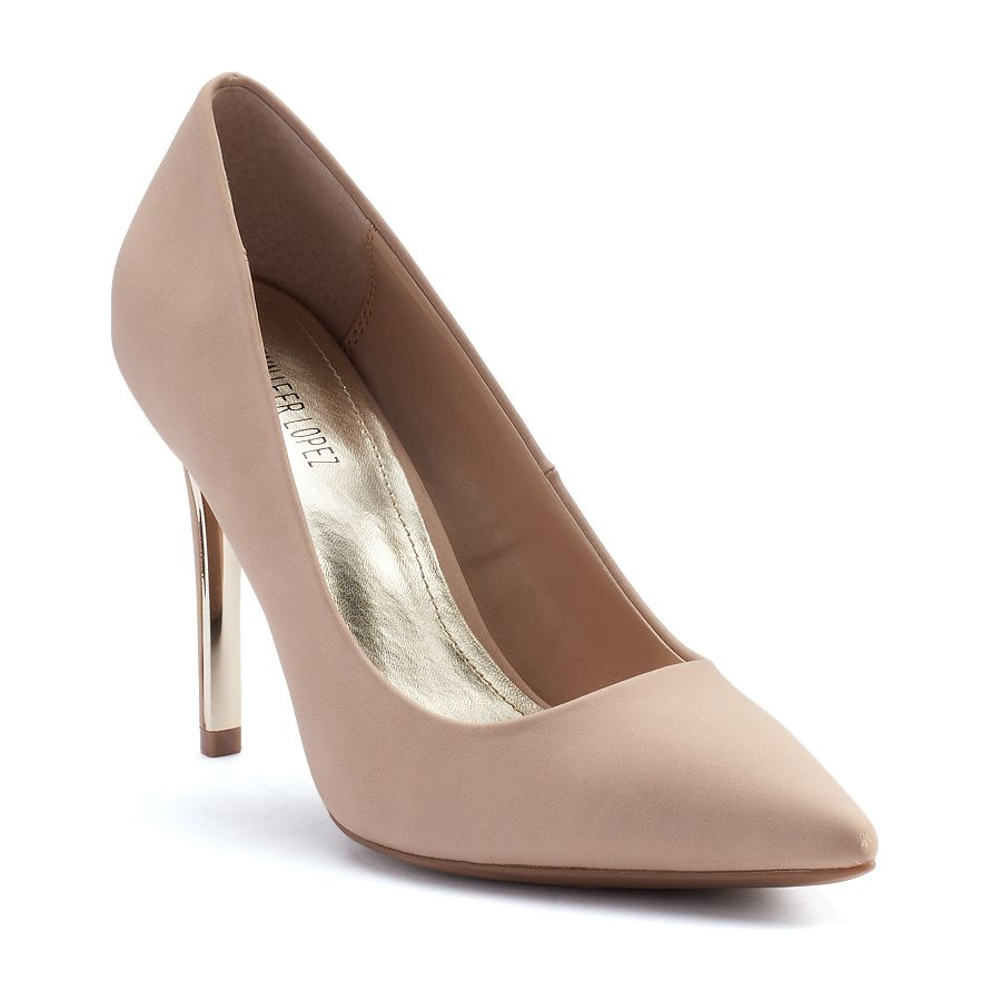 Jennifer Lopez Women's Classic Stiletto High Heels Beige