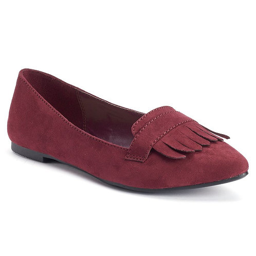 LC Lauren Conrad Women's Pointed Toe Red Loafers *BN*