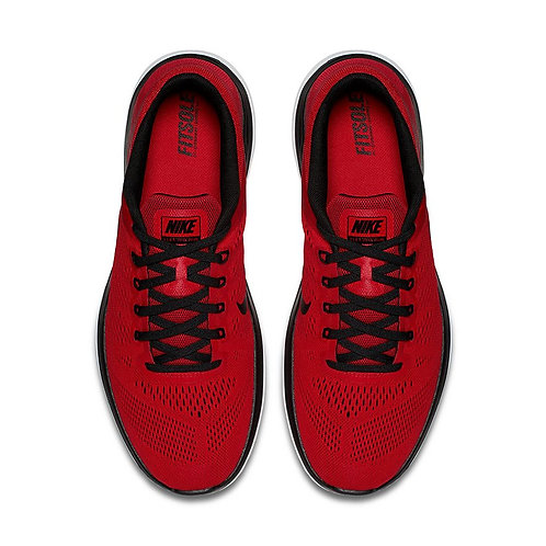 Men's Nike Flex Run Red & Black Running Shoes*BN*