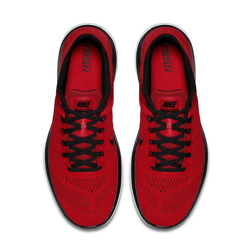 622f59753308 Men s Nike Flex Run Red   Black Running Shoes BN