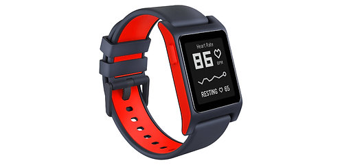 Pebble 2 Heart Rate Smart Watch  (Charcoal Red) *BN*