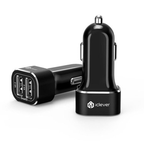 iClever BoostDrive 2-Port USB Car Charger *BN*