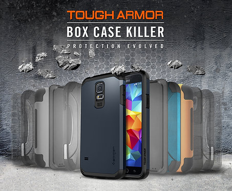 Spigen Tough Armor Galaxy Note 4 Case with Extreme Heavy Duty Protection *BN*