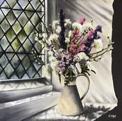 Church Window Sill Flowers