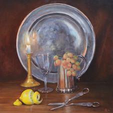 Plate and Lemon