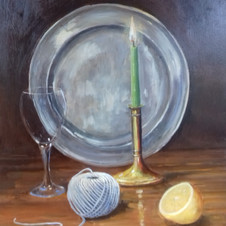 Plate and Candle