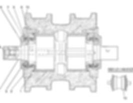 0901-21-140СП каток опорный т-9.01, каток четра т9, тм9.01 каток четра т9м