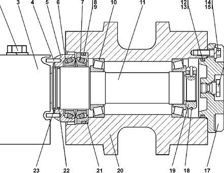 1501-21-10СП каток поддерживающий т-15.01, каток четра т15, т-15.02 каток поддерживающий четра т15м