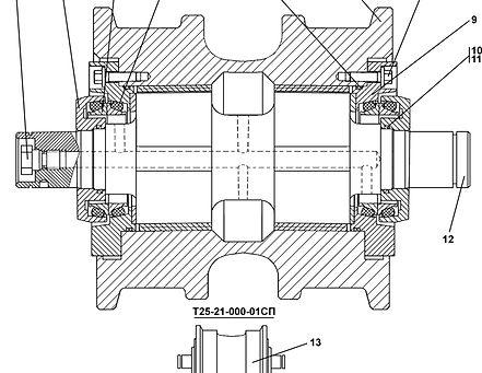 Т25-21-000 каток опорный т-25.01, т25, т-2501