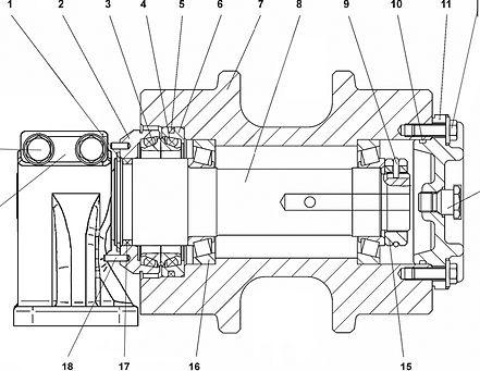 2001-21-15СП каток поддерживающий т-20.01, т20, т-20.02