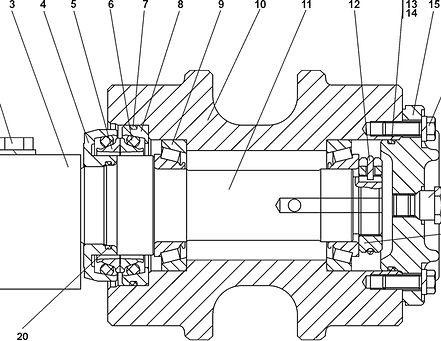 1101-21-10СП каток поддерживающий т-11.01, каток четра т11, т-11.02 каток поддерживающий четра т11м