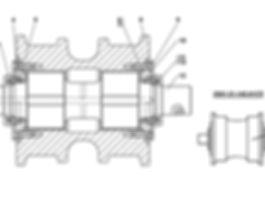 2501-21-145-01СП каток опорный т-25.01, т25, т-25.02