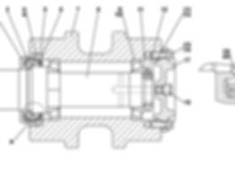 3501-21-155СПкаток поддерживающий т-35.01, т35, т-35.02