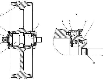 А09-21-141СБ колесо натяжное т-9.01, т9, тм-9.01