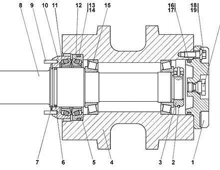 1501-21-15СП каток поддерживающий т-15.01, каток четра т15, т-15.02 каток поддерживающий четра т15м