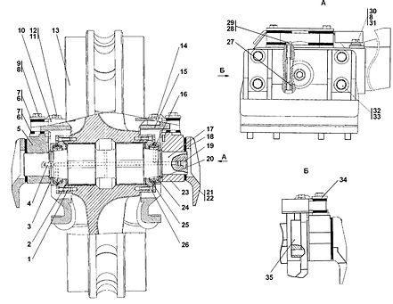 3501-21-15СП колесо натяжное т-35.01, т35, т-3501