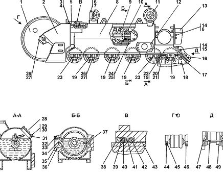 1101-21-72СП тележка т-11.01, т11, т-1102 Промтрактор