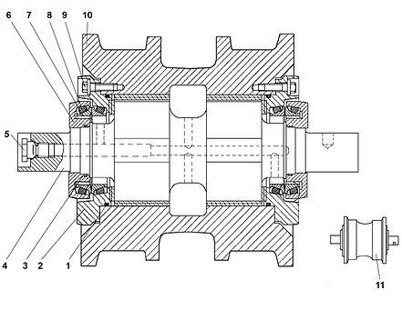 1101-21-40СП каток опорный т-11.01, каток четра т11, т-11.02 каток четра т11м