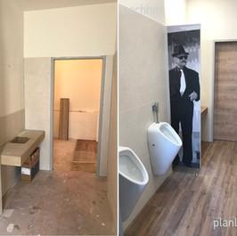 Nachher Herrentoilette