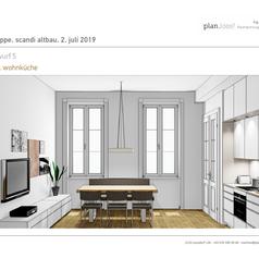 Wohnküche Entwurf