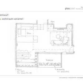 Konzept Wohnküche
