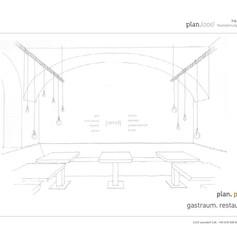 Konzept Gastraum