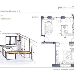 Konzept Wohnküche - Variante 2