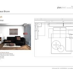 Entwurf Wohnbereich