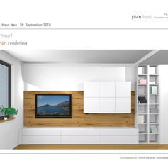 3D Entwurf Wohnzimmer