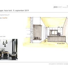 Konzept Küche + Raumteiler