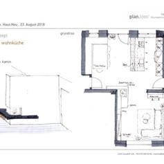 Konzept Wohnküche - Variante 1