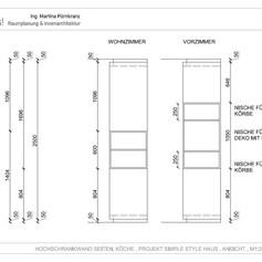 Detailplan Hochschrankwand