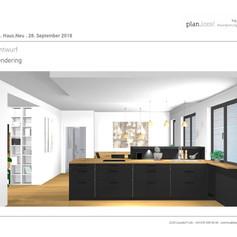 3D Entwurf Küche