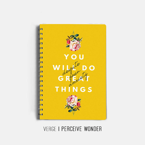 You Will Do Great Things Notebook